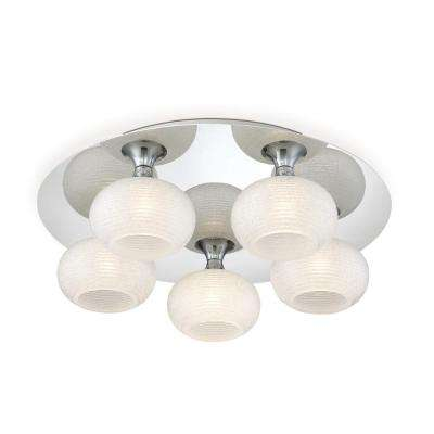 Marche Collection 30-Watt Chrome Integrated LED Flushmount