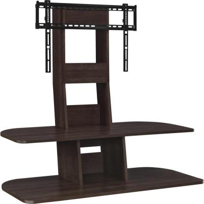Park 47 in. Espresso Particle Board Pedestal TV Stand Fits TVs Up to 65 in. with Flat Screen Mount