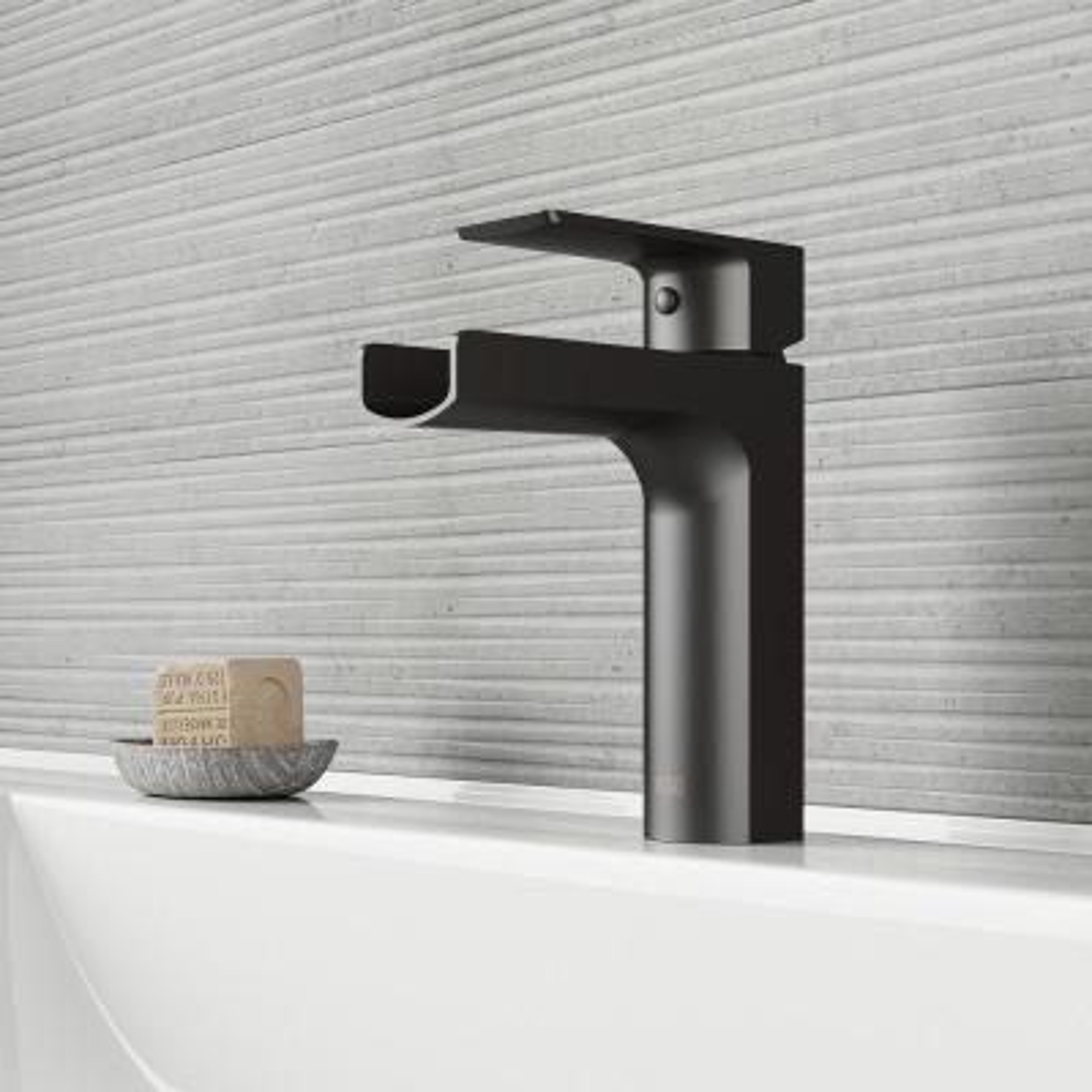 Ileana Single Hole Single-Handle Bathroom Faucet in Matte Black