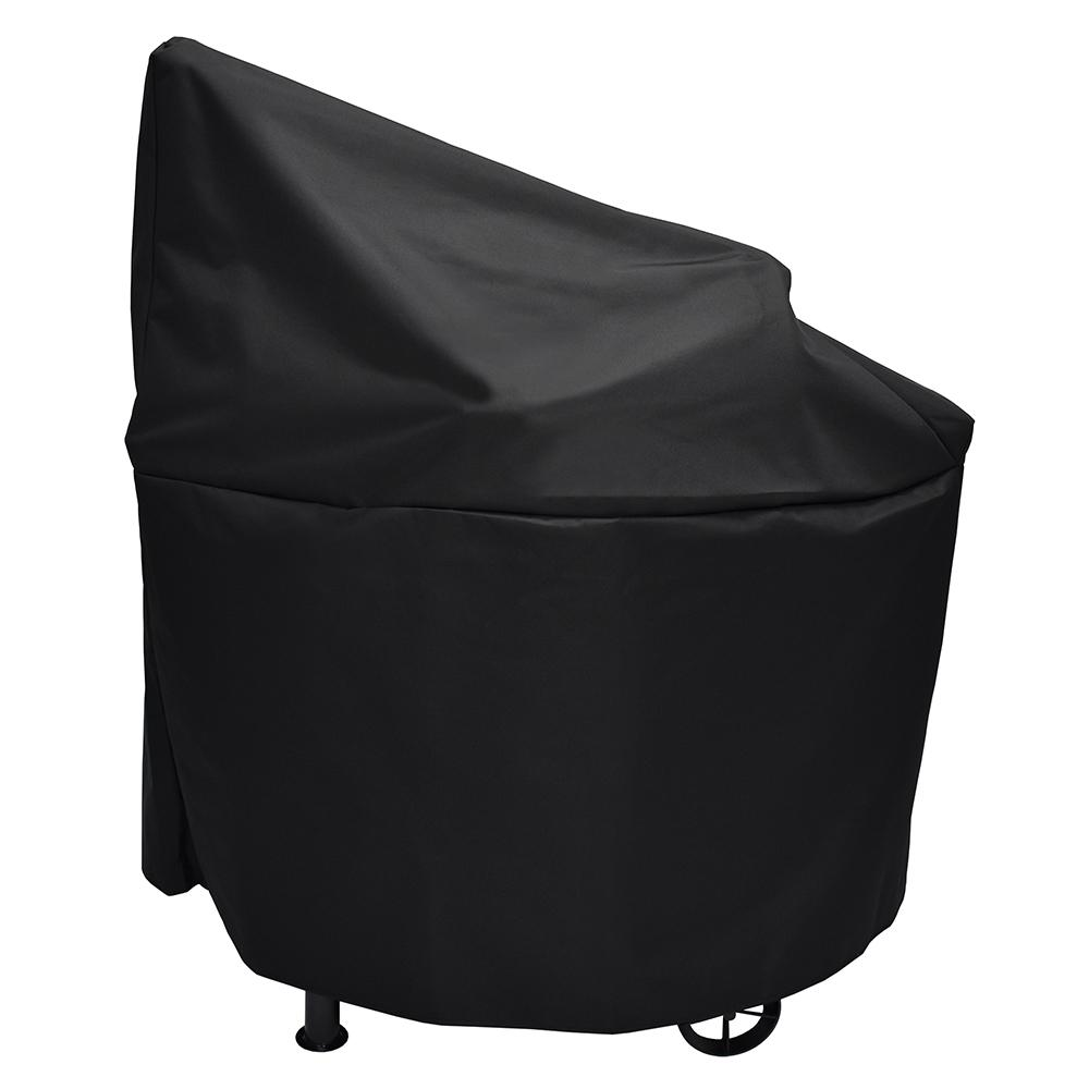 Trail Embers Pellet Smoker Cover, Black Provide year-round protection for your smoker, with this Trail Embers smoker cover. Made with water resistant, heavy-duty 600 Denier polyester material to withstand harsh elements. This cover also features a customized fit which prevents it from blowing off or flapping when windy. Fits the Trail Embers pellet smoker (model # SMK8028AS). Color: Black.