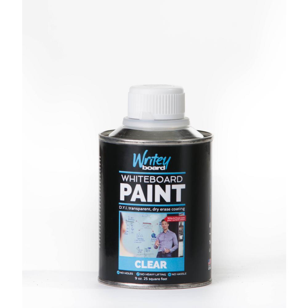 25 sq. ft. Transparent Gloss Whiteboard Paint Kit