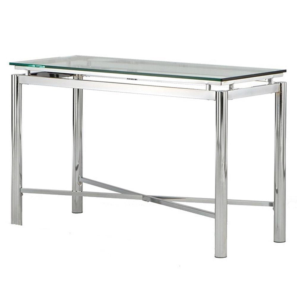 Nova Glass and Chrome Sofa Table