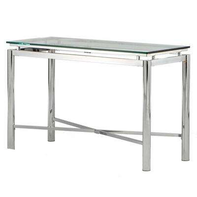 Nova Glass and Chrome Sofa Table