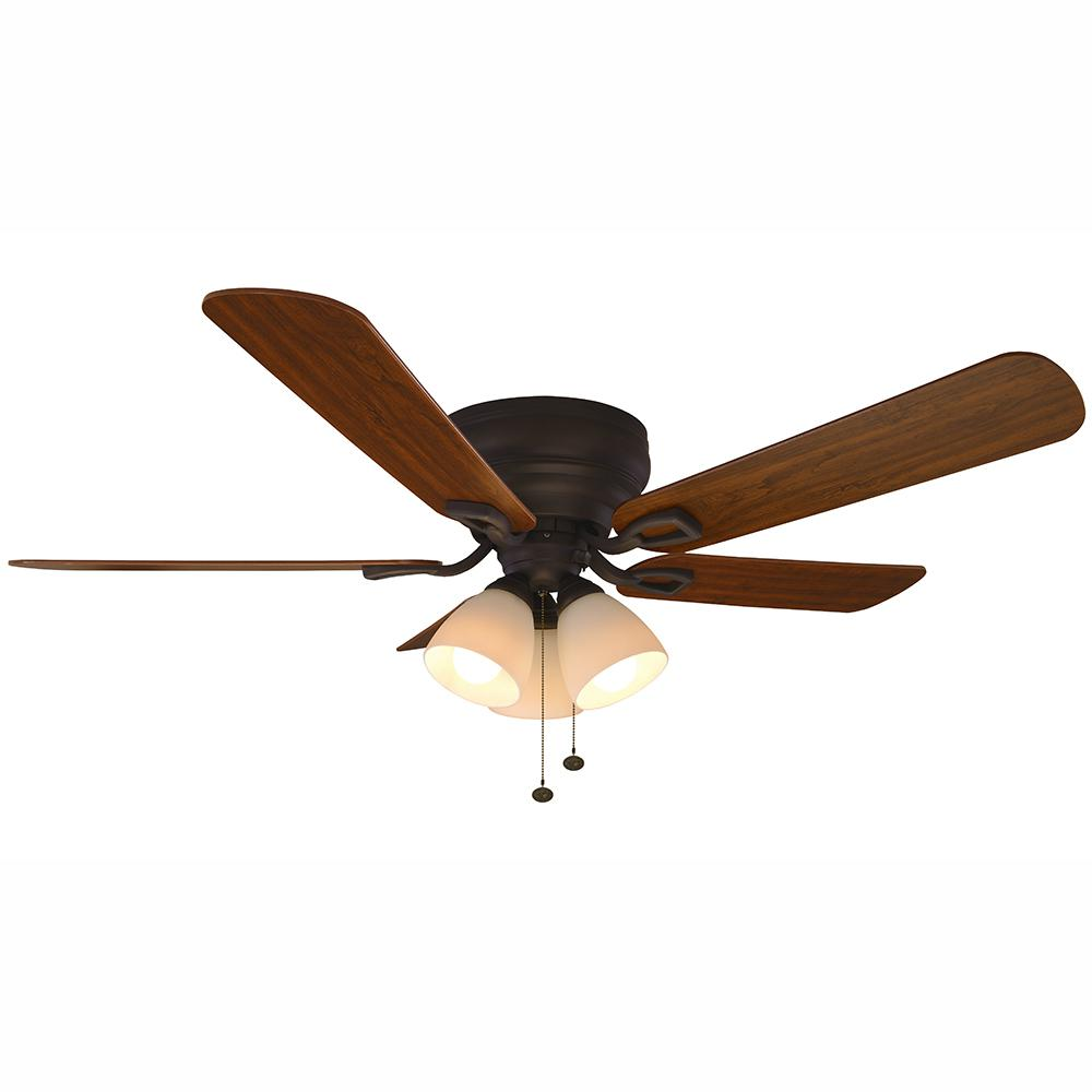 Blair 52 in. LED Indoor Oil-Rubbed Bronze Ceiling Fan with Light