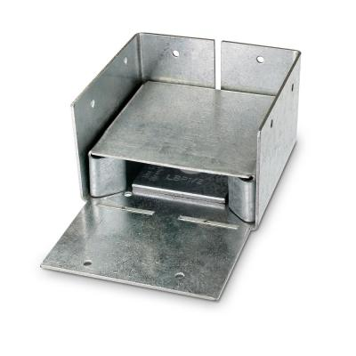 ABW ZMAX Galvanized Adjustable Standoff Post Base for 4x4 Nominal Lumber