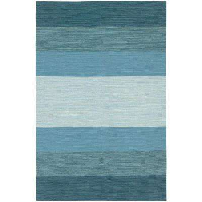 India Blue 8 ft. x 11 ft. Indoor Area Rug