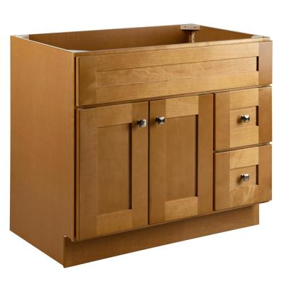 Brookings Plywood RTA 36 in. W x 21 in. D 2-Door 2-Drawer Shaker Style Bath Vanity Cabinet Only in Birch
