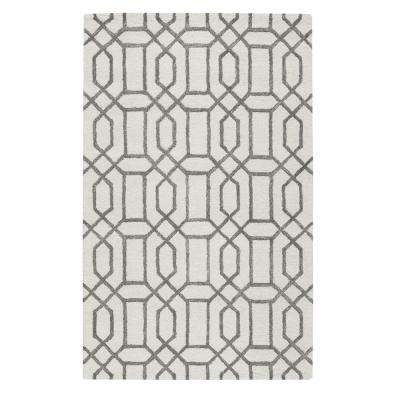 Capital White 4 ft. x 6 ft. Area Rug