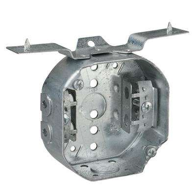 4 in. 15.8 cu. in. Octagon Box with V-Bracket