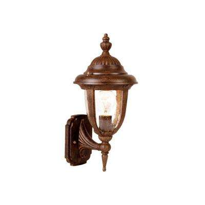 Monterey Collection Wall-Mount 1-Light Outdoor Burled Walnut Light Fixture