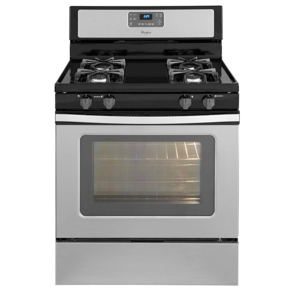 Whirlpool 5.0 cu. ft. Gas Range with Self-Cleaning Oven in Stainless Steel