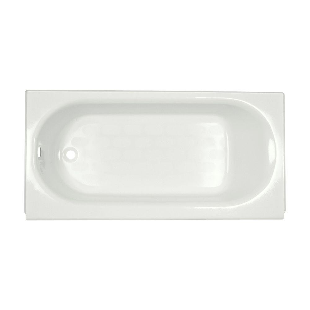 Princeton Luxury Ledge 5 ft. Left-Drain Soaking Bathtub in White