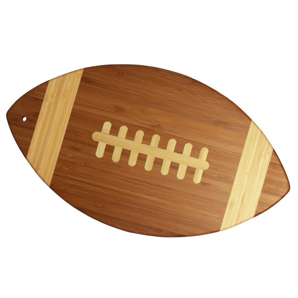 Totally Bamboo Football Shape 1-Piece Cutting Board
