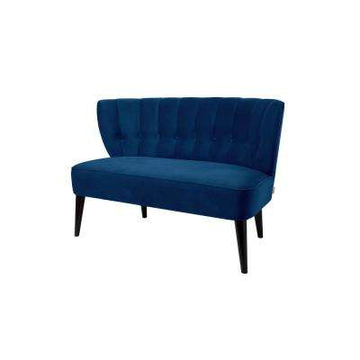 Navy Blue Becca Tufted Settee