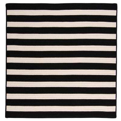 Baxter Black White 10 ft. x 10 ft. Square Indoor/Outdoor Braided Area Rug