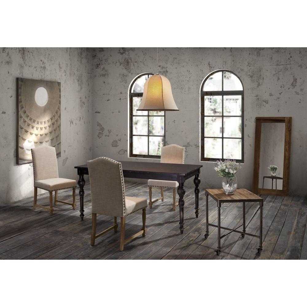 ZUO Richmond Beige Linen Dining Chair (Set of 2)