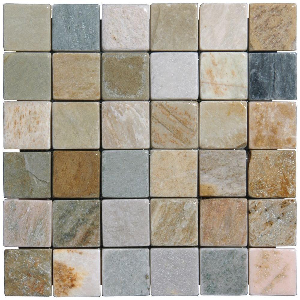 Outdoorpatio Quartz Wall Mosaic Tile Tile The Home Depot