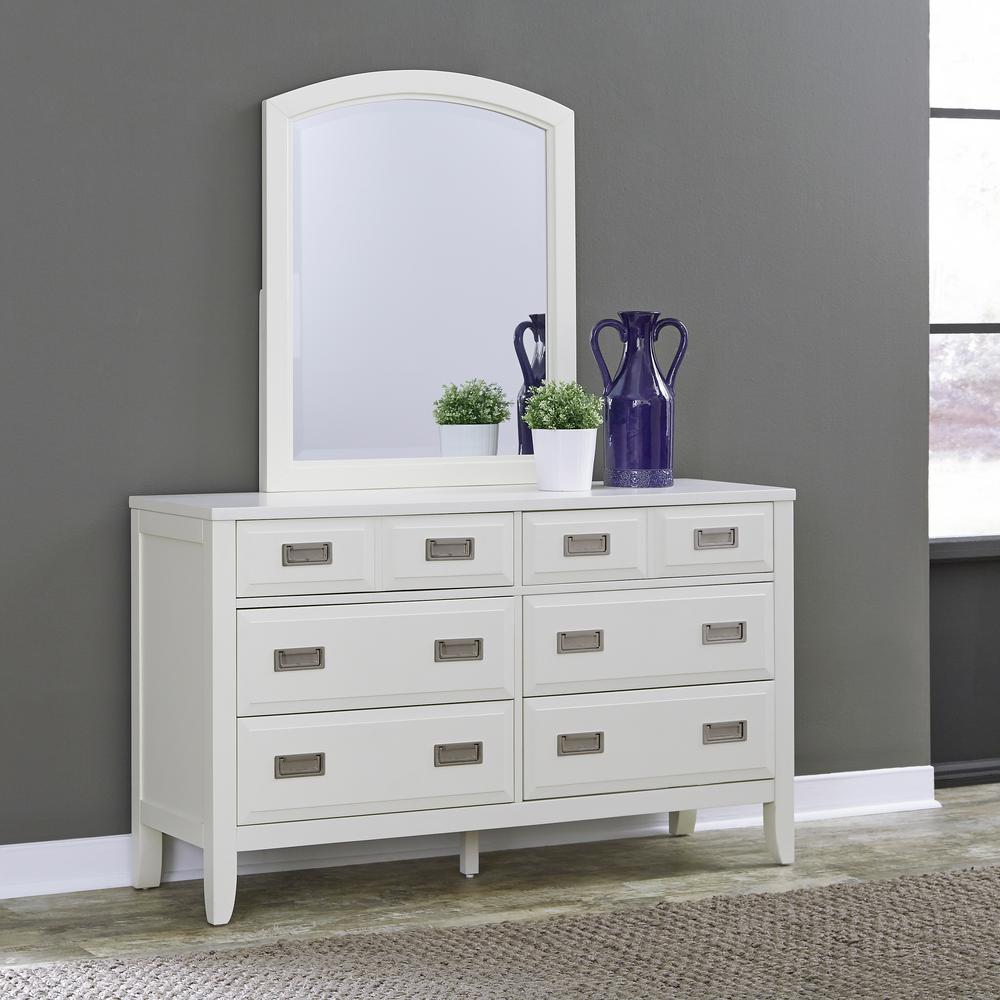 home styles newport 6drawer white dresser with mirror