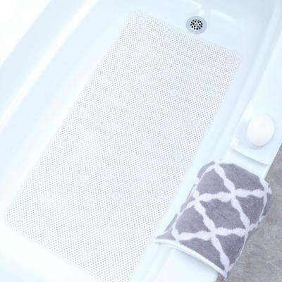 17 in. x 36 in. Comfort Foam Bath Mat in White