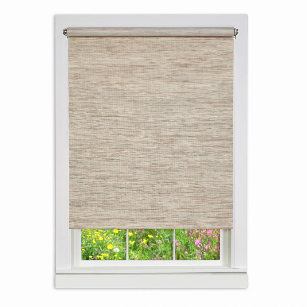 Achim Natural Cordless Fabric Privacy Roller Shade 60 In