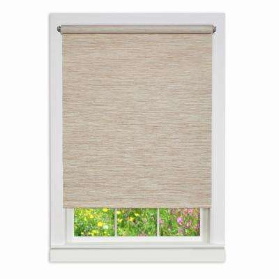 Natural Cordless Fabric Privacy Roller Shade - 63 in. W x 72 in. L