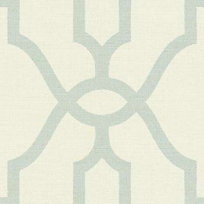 56 sq.ft. Woven Trellis Wallpaper