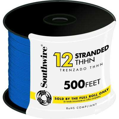 500 ft. 12 Blue Stranded CU THHN Wire