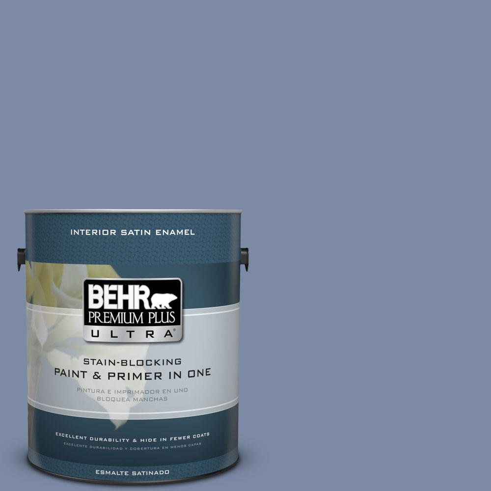 BEHR Premium Plus Ultra 1-Gal. #PPU15-9 Hilo Bay Satin Enamel Interior Paint