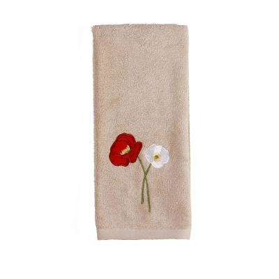 Poppy Field Cotton Hand Towel in Amber