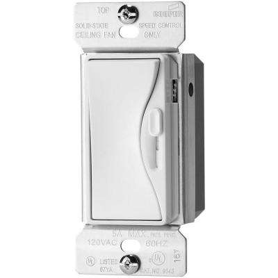 Aspire 5 Amp 120-Volt Alpine White Fully Variable Fan Control