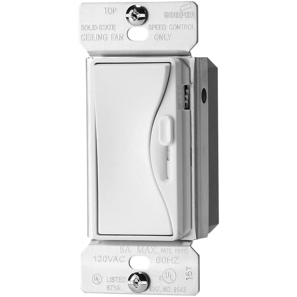 Eaton Aspire 5 Amp 120-Volt Alpine White Fully Variable Fan Control  sc 1 st  The Home Depot : cooper wiring devices aspire - yogabreezes.com