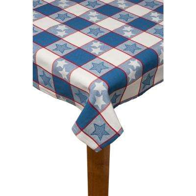 Independence Stripe 60 in. x 102 in. 100% Cotton Tablecloth