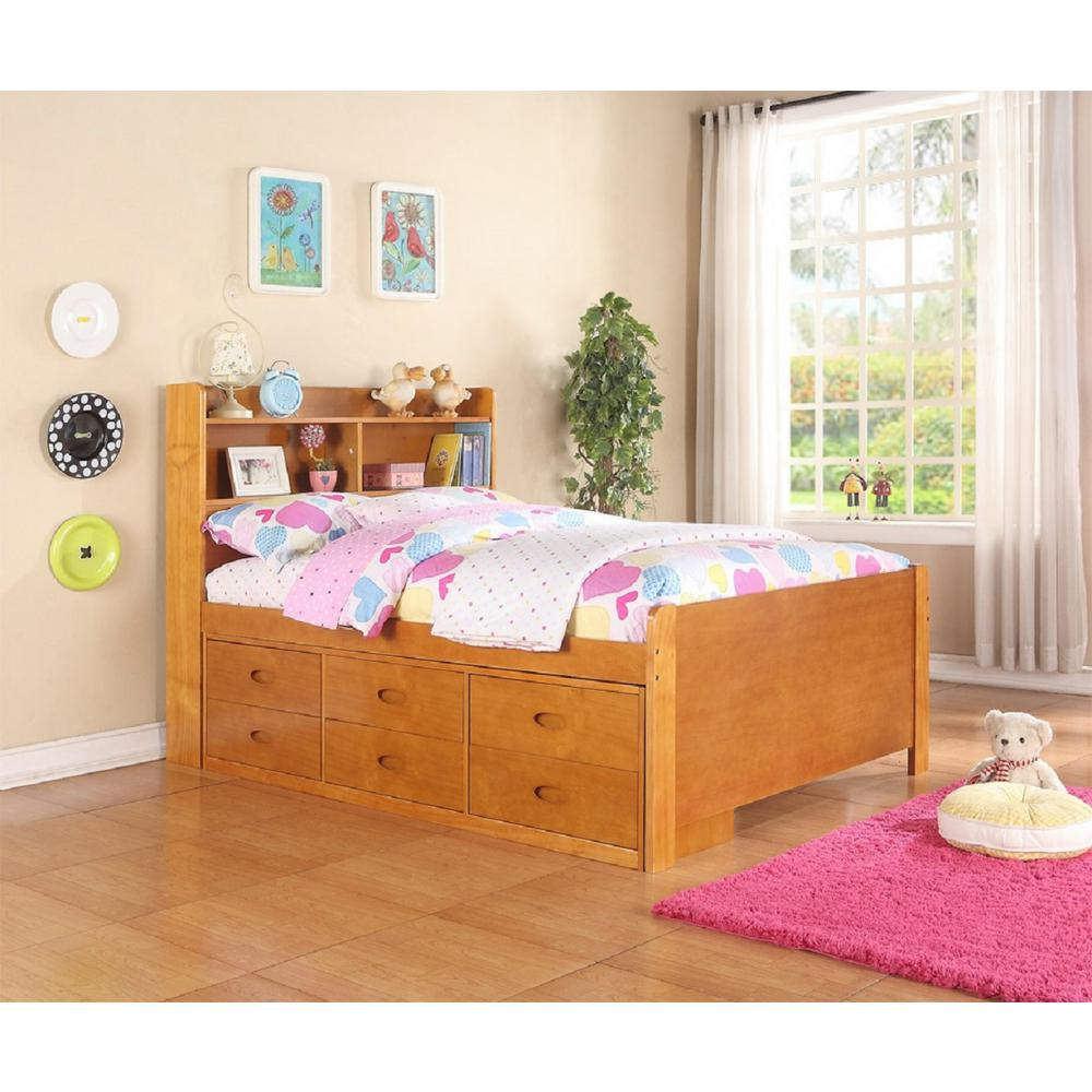 Boraam Captain's Fruitwood Full-Size Bed