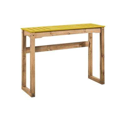 Stillwell 47.3 in. Yellow and Natural Wood Bar Table