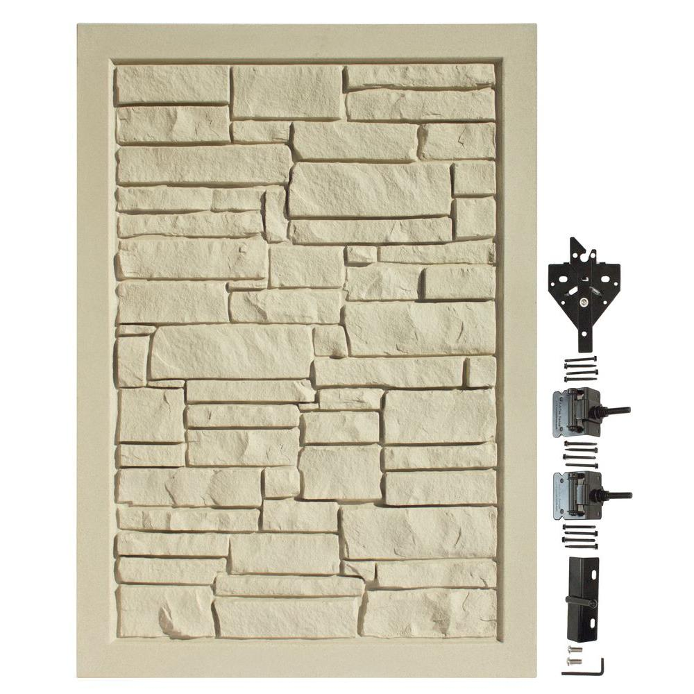 4 ft. W x 6 ft. H Ecostone Beige Composite Privacy