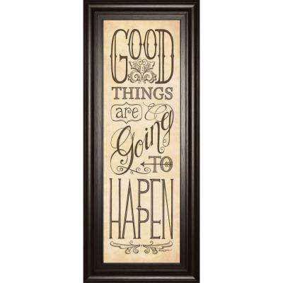 """18 in. x 42 in. """"Good Things are Going to Happen"""" by Deb Strain Framed Printed Wall Art"""