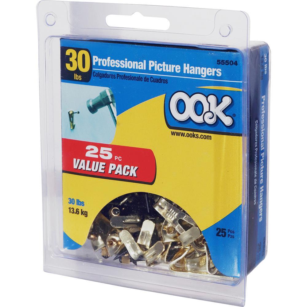 30 pk Picture Hanger Monkey Hook  Galvanized  Monkey  Steel  40 lb