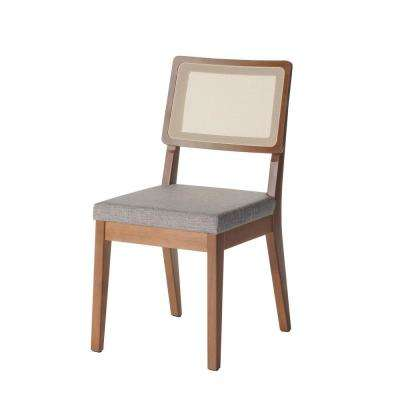 Pell Grey and Maple Cream Dining Chair