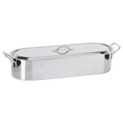 24 in. x 7 1/2 in. x 5 in. Stainless Steel Fish Poacher