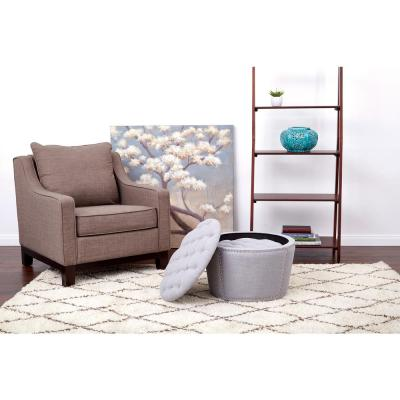 Lacey Tufted Storage Ottoman Set on Gray