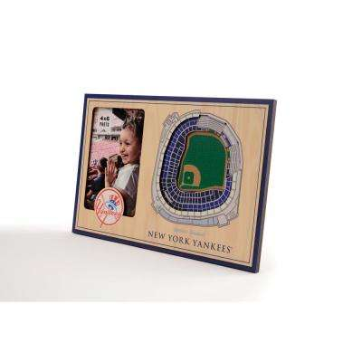 MLB New York Yankees Team Colored 3D StadiumView with 4 in. x 6 in. Picture Frame