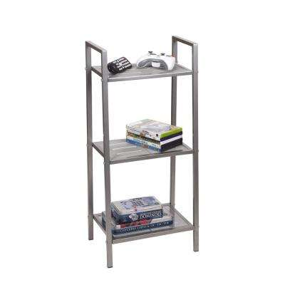33 in. x 10.5 in. x 15 in. Free-Standing 3-Tier Storage Rack in Gunmetal
