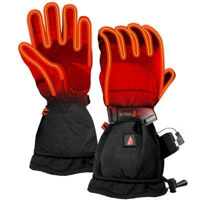 Men's Large Black 5-Volt Battery Heated Snow Gloves