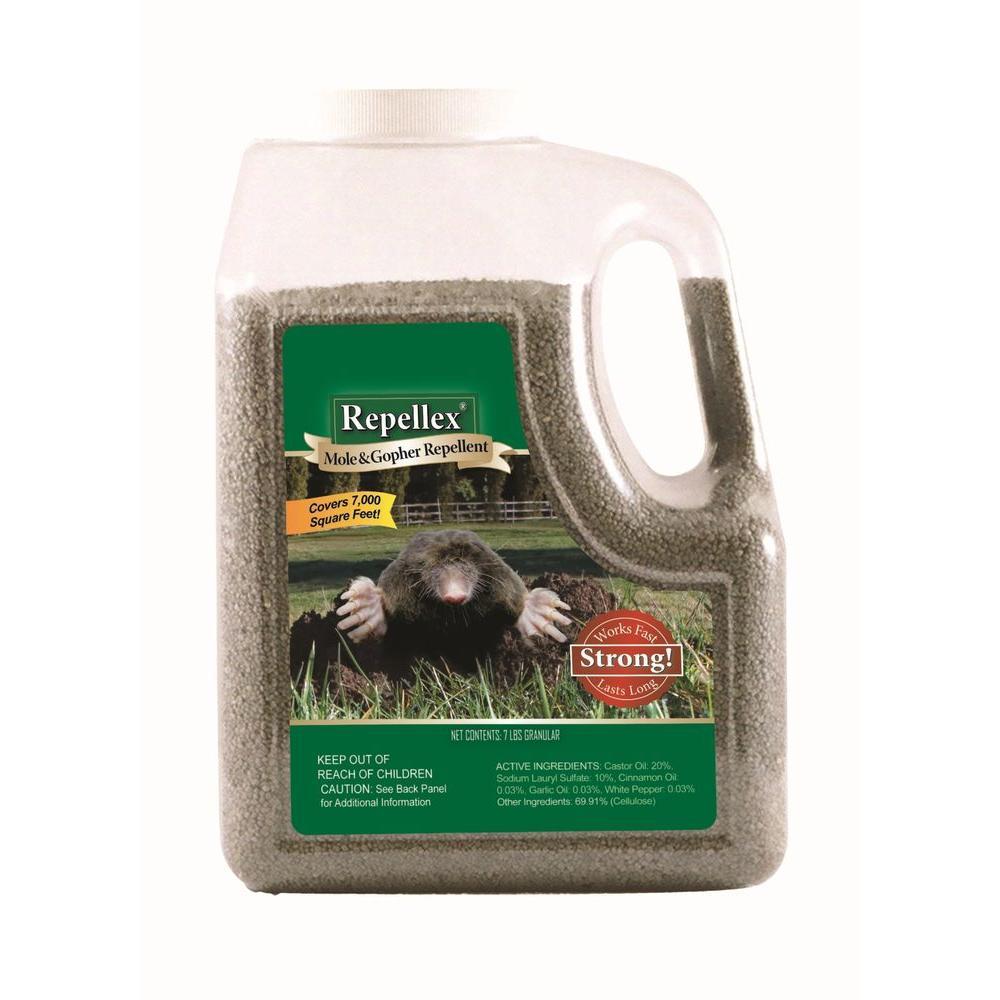 Repellex 7 Lb Granular Mole Vole And Gopher Repellent 10530 The Home Depot
