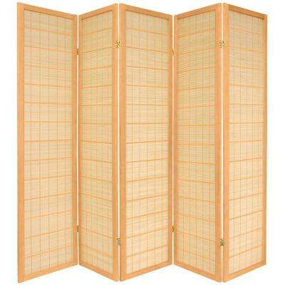 6 ft. Natural 5-Panel Room Divider