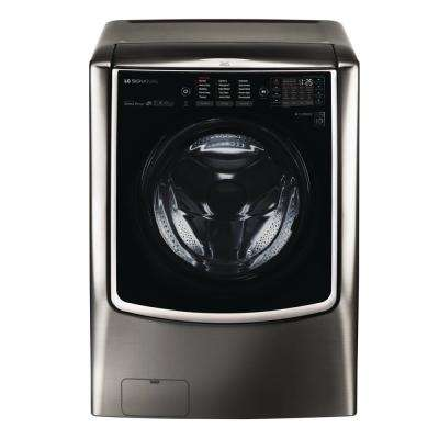5.8 cu. ft. HE Mega Capacity Smart Front Load Washer with TurboWash & Steam in Black Stainless Steel, ENERGY STAR