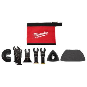20-Piece Milwaukee Oscillating Multi-Tool Blade Kit with Tool Pouch