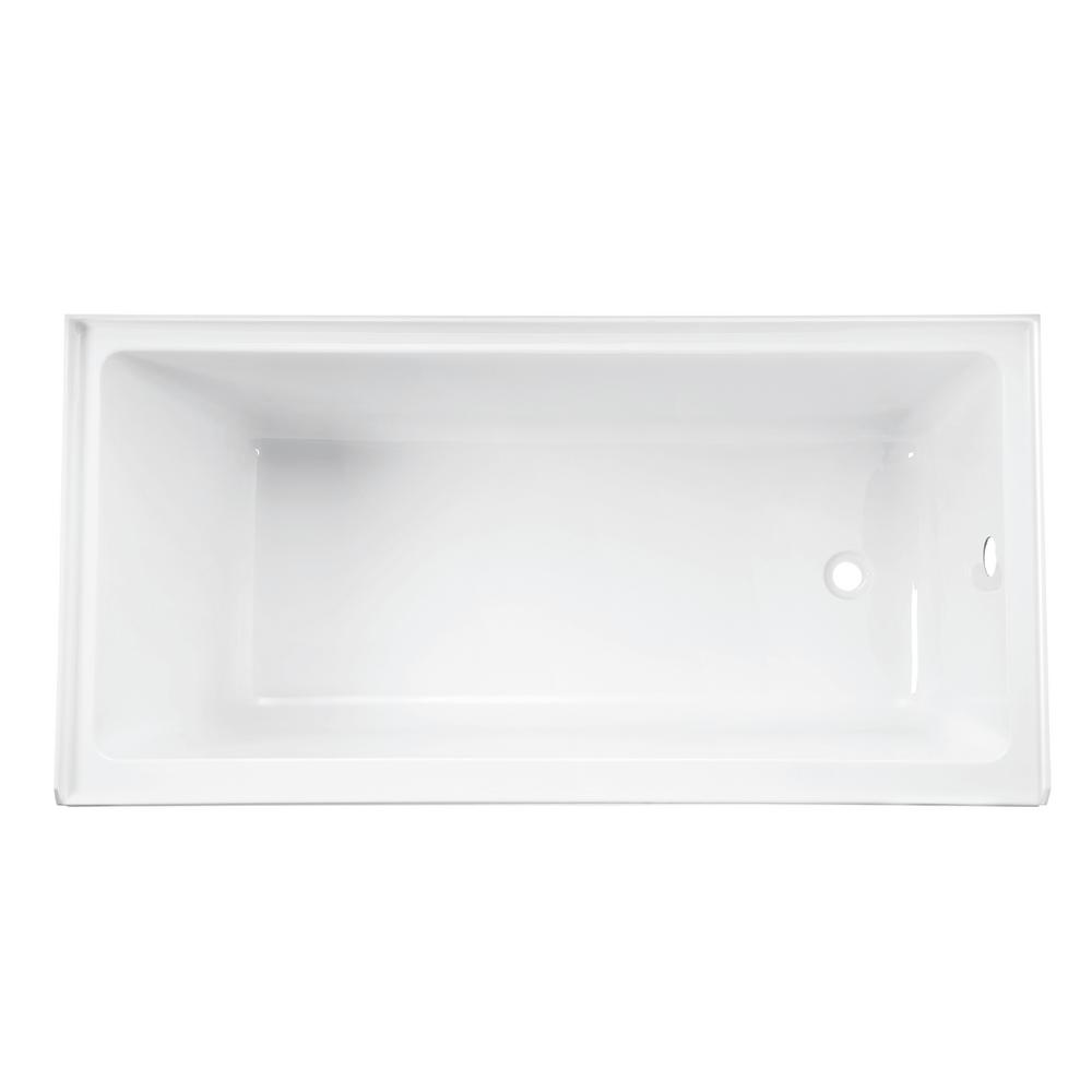 Lucite Acrylic Rectangular Drop In Bathtub Right Hand