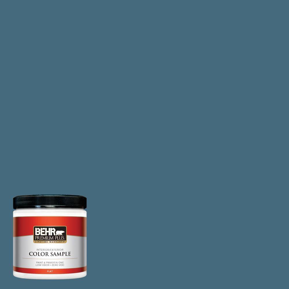 BEHR Premium Plus 8 oz. #550F-6 Regatta Bay Interior/Exterior Paint Sample