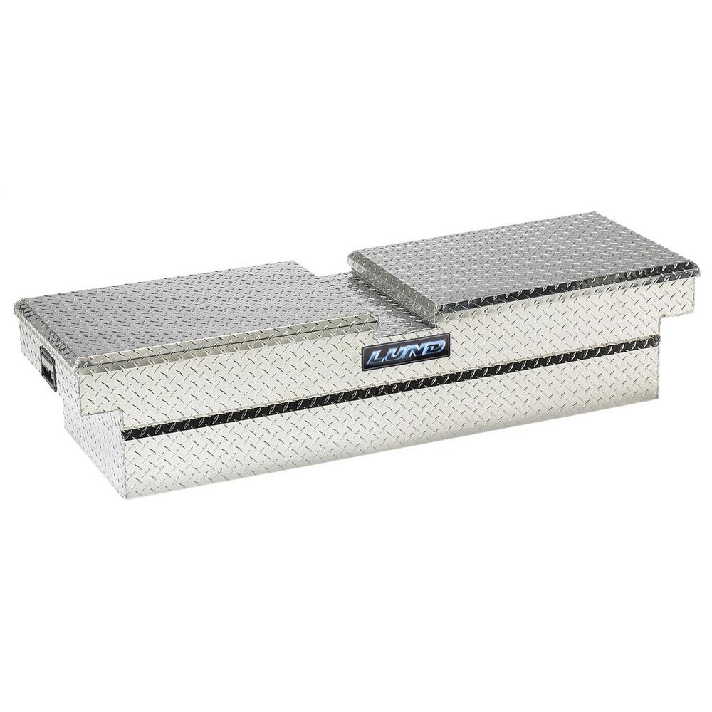 Lund 63 13 in Diamond Plate Aluminum Full Size Crossbed Truck Tool Box